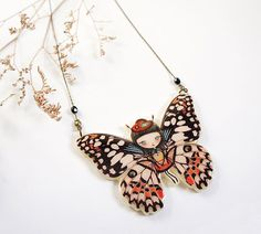 Hey, I found this really awesome Etsy listing at https://www.etsy.com/listing/230553664/butterfly-necklace-or-brooch