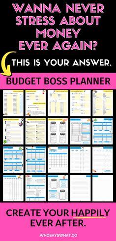 Budget Boss Binder: Budget Printables To Master Your Money - Finance tips, saving money, budgeting planner Making A Budget, Create A Budget, Making Ideas, Budget Help, Ways To Save Money, Money Tips, Money Saving Tips, Managing Money, Money Hacks
