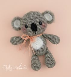 Mini Koala Anna, #haken, gratis patroon, Nederlands, amigurumi, knuffel, speelgoed, #haakpatroon