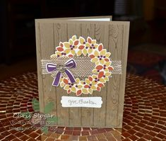 Wondrous Wreath for Fall by Chris Slogar - Cards and Paper Crafts at Splitcoaststampers