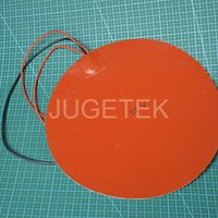 250mm 12V round silicone rubber heater pad HOT sale!!!