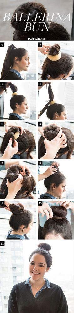 How To Make The Perfect Ballerina Bun - Marie Claire