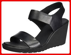 Damara, Sandales Bout Ouvert Femme, Noir (Warm Grey/Black), 39 EUEcco