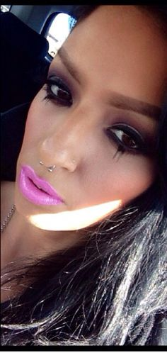 Purple MAC Makeup bottom lashes