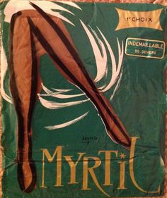 Vintage Myrtil Real French Fully Fashioned Nylon Stockings