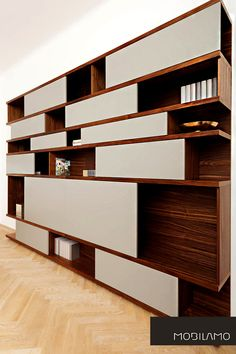 höchster Tischlerqualität zu einem unglaublichen online Preis A Shelf, Shelves, Vertical Or Horizontal, Open Shelving, Designer, Furniture, Home Decor, Carpenter, Living Room Inspiration
