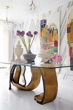 showstopping vignette in a Manhattan townhouse contemporary decor, contemporary furniture, Exclusive Design, Designer Furniture, Interior Design, Best decor, Decorating secrets, entrance hall,living area.   get inspired on: http://www.bocadolobo.com/en/inspiration-and-ideas/