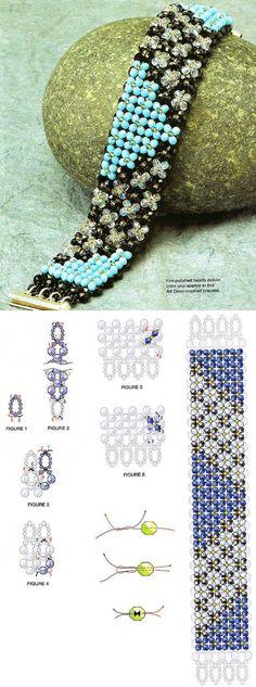 Bracelet free beads tutorial.