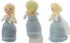 Free Knitted Topsy Turvy Doll Pattern Knitted Toy Box: Elsa Frozen Flip Doll