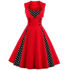 Women Robe Retro Vintage Dress Rockabilly Dot Swing Pin Up Summer Party Dresses Elegant Tunic Vestidos Casual Size S Color Sky blue Pin Up Dresses, Women's Dresses, Elegant Dresses, Pretty Dresses, Beautiful Dresses, Dress Up, Summer Dresses, 1950s Dresses, Evening Dresses