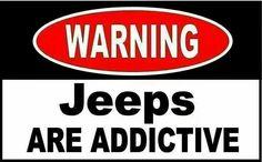 Not really a warning, more like a badge! #JeepLife #BrandlMotors
