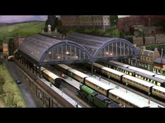 Glendower - Spectacular OO gauge model railway layout in a 4ft high basement! - YouTube