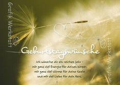 Geburtstagswünsche - Postkarten - Grafik Werkstatt Bielefeld