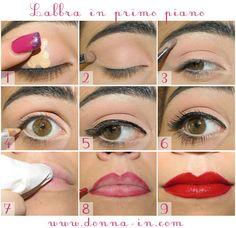 Make up tutorial http://www.donna-in.com/2012/04/make-up-tutorial-labbra-in-primo-piano/