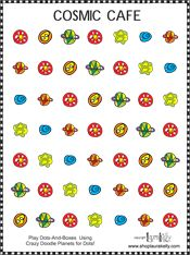 Play traditional dots-and-boxes, alien style!