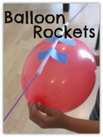 How To: Make Balloon Rockets In Your Living Room. Making science discovery oh so fun!