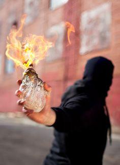 Armament  Human Heart-Shaped Glass Molotov Cocktails