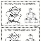 This is also included in my Polar Express Unit.  The children will count the presents in the sleigh or in Santa's hand and correctly write the numb...