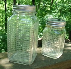 Love these vintage quart Mason Jars by Ball.
