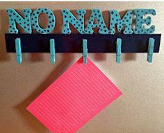 No name board