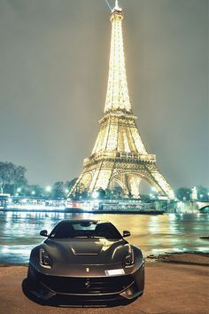 Ferrari F12 with a stunning Eiffel Tower backdrop. Love Paris? Click to be inspired!