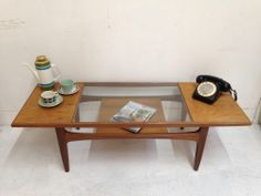 retro teak g plan astro coffee table - vintage, danish style