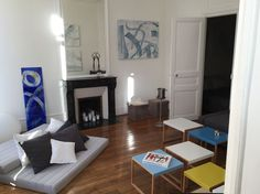 Apartment in Paris, France. Spacious one bedroom apt. with formal dining room and extra high ceilings. All the modern conveniences in a 17th century building with original wood floors, marble fireplaces and extra large double-paned windows that opened out onto fashionable Ru...