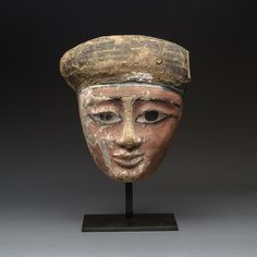 Egyptian Polychrome Wooden Mask - Barakat Gallery Store