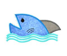 Shark Attack Embroidery includes both applique and fill stitch.  [per previous pinner]