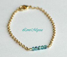30 OFF  Blue on Gold Bracelet Set by LoveMyssa on Etsy