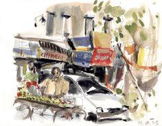 Carnet de voyage à Delhi, Inde - Delphine Priollaud-Stoclet