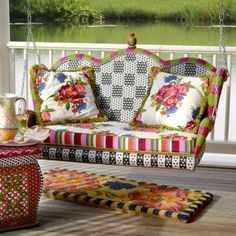 porch...love these prints together