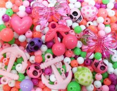 FREE SHIPPING 400 pcs Spring Pink and Green Themed by CuteCornwall, £5.00