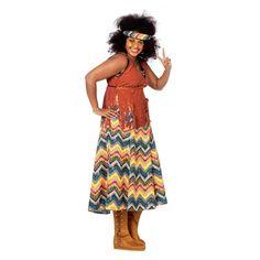 Grote maten Hippie kostuum dames. Carnavalskleding 2016 #carnaval