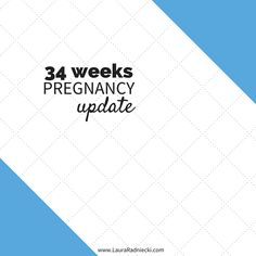 34 Week Pregnancy Update - In this post, I share an update as I count down the weeks to meeting our first baby. I share about pregnancy insomnia, birth class, maternity photos and more.