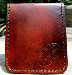 These can be made almost any color Versatile minimalist leather wallet bifold card by PEOPLESLEATHER, $28.00