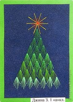 Christmas tree embroidery ideas