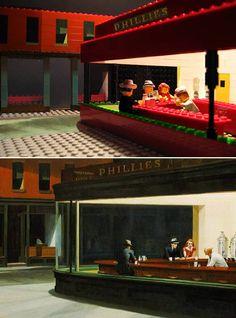 LEGO FAMOUS PAINTING : Edward Hopper's Nighthawks