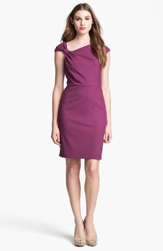 Ivy & Blu for Maggy Boutique Cap Sleeve Sheath Dress available at #Nordstrom