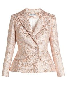 Mona leaf-brocade double-breasted jacket | Osman | MATCHESFASHION.COM US
