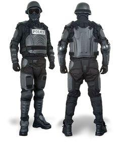 full body riot control suit