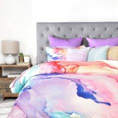 Great for Color My World Duvet Cover Set by East Urban Home Bedding Furniture from top store Duvet Cover Sizes, Bed Duvet Covers, Tye Dye, Wal Art, Down Comforter, Comforter Sets, Toddler Comforter, Polyester Material, Luxury Bedding Sets