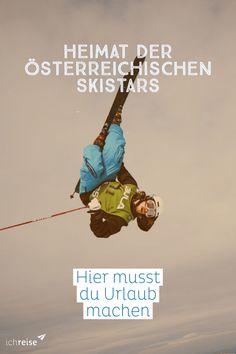 Österreich ist eine Skination, daran besteht kein Zweifel. Die besten Skifahrerinnen und Skifahrer des Landes – von Annemarie Moser-Pröll und Franz Klammer bis zu Hermann Maier – sind Superstars. In ihren jeweiligen Heimatgemeinden genießen sie überhaupt Kultstatus – und die Geburtsorte der Skihelden nutzen den Promi-Status auch für die Fremdenverkehrswerbung aus.   Wir haben uns angesehen, aus welchen Orten die ÖSV-Athleten, die heute den Ton angeben, stammen und was sich dort touristisch… Star Wars, Am Meer, Bergen, Movies, Movie Posters, Fictional Characters, Best Ski Resorts, Skiers, Ice Skating