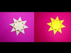 Easy Origami Star 8 pointed.  Christmas  star and house decoration - YouTube