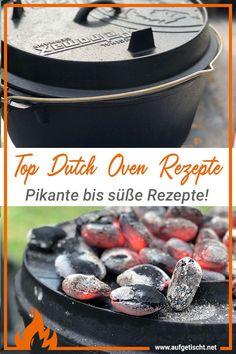 Dutch Oven kochen wird immer beliebter und so kann man die schwarzen Feuertöpfe ideal einsetzen. Bei uns findest du laufend die Top Dutch Oven Rezepte von pikant bis süß. Egal ob Vorspeise, Hauptspeise oder Nachspeise, im Dutch Oven lässt sich jedes Rezept rasch und einfach zubereiten. Hol dir hier viele Tipps und Tricks wie es sich direkt am Feuer kochen lässt! #rezepte #grillblog #dutchoven #feuerpfanne #petromax #genuss #kochenamfeuer #aufgetischt Indoor Grill, Dutch Oven, Bbq Grill, Outdoor Cooking, International Recipes, Creative Food, Easy Peasy, Grilling Recipes, Delish