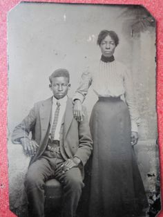 RARE 1860's - 90's AFRICAN AMERICAN TINTYPE BLACK AMERICANA TINTYPE MAN & WOMAN in Collectibles, Photographic Images, Vintage & Antique (Pre-1940), Tintypes | eBay