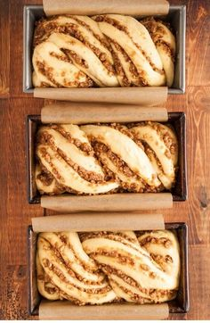 Recipe: Sticky Caramel-Pecan Babka Loaves — Recipes from The Kitchn It all started a few months back when Faith connected me with Jerry James Stone and his Three Loaves project. Jerry's simple idea, an easy intro to giving, is that… Continue Reading → Loaf Recipes, Bread Machine Recipes, Dessert Recipes, Cooking Recipes, Pudding Recipes, Cooking Tips, Dessert Bread, Pecan Recipes, Artisan Bread Recipes