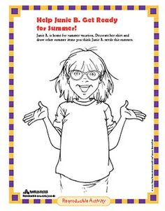 1000 images about junie b jones book activities on for Junie b coloring pages