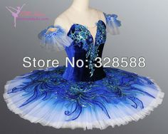 Popular style! velvet bodice, gradual changing royal blue color tutu skirt, ballet tutu EM-A1083