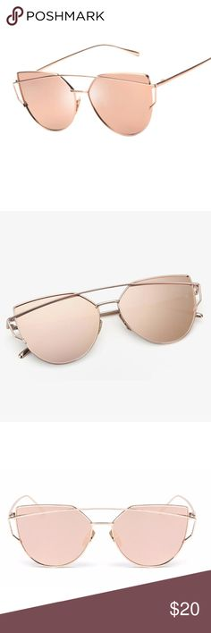 ✨ Rose Gold Cat Eye Sunglasses Super Trendy! ✨Frame Material: Alloy  ✨Lens Width: 66mm  ✨Lens Height: 51mm  ✨Lens Material: Polycarbonate. ✨Polarized ✨UV 400 Protection. ❗️Unbranded❗️ Accessories Glasses
